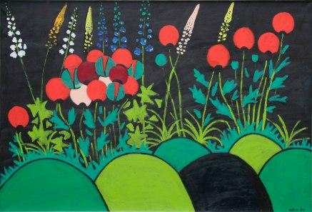 1989-047, Rittermohn, Acryl auf Leinwand, 89 x 130 cm