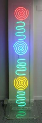 1998-121, Neon Stele, 200 cm hoch, im Eigentum von Alex Weber