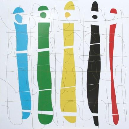 2011-016, Geflecht II, Digitaldruck Christian Schicker nach PC Vorlage, auf Forex, 120 x 120 cm